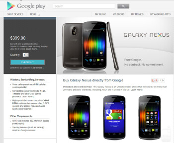 Back to the Future! Buy the Galaxy Nexus direct from the Google Play Store