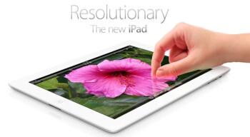 The Retina display on the new iPad