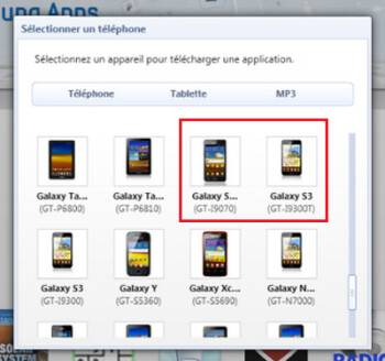 The Samsung Galaxy S III appears to be the GT-i9300