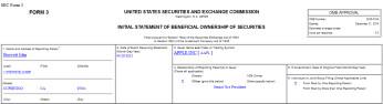 John Browett's award was filed by Apple on SEC Form 3