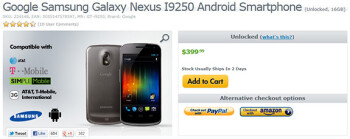 eXpansys joins Google: now offers Samsung Galaxy Nexus for $399