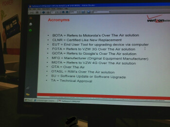 Photo of Verizon ICS update and testing schedule leaked