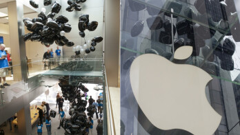 Greenpeace releases hundreds of black balloons in Apple 5th Ave store in protest