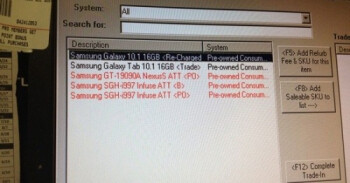 A screenshot of Game Stop's computer system indictaes that the retailer will soon accept Android trade-ins