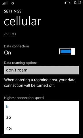 Simple tweak adds an EDGE/3G/4G toggle to the Lumia 900
