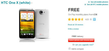 Vodafone UK temporarily reduces the price of the HTC One X and One S