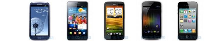 Samsung Galaxy S III vs HTC One X vs Galaxy Nexus vs iPhone 4S: spec comparison