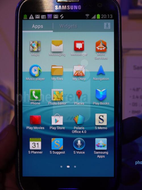 Samsung Galaxy S III screenshots