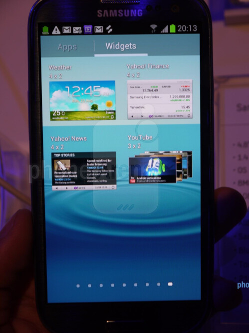 Samsung Galaxy S III screenshots
