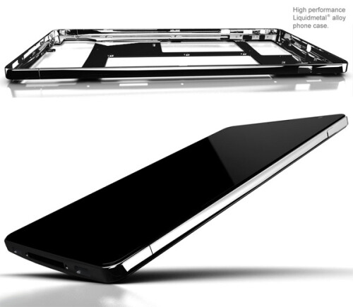 LiquidMetal iPhone 5 mockup