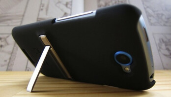 HTC's new line of cases for the HTC One S includes a higher priced model with a kickstand (R)