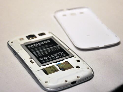 Removable battery, microSD card slot