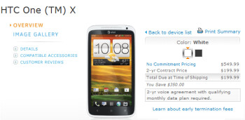AT&T has launched the HTC One X