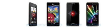 DROID INCREDIBLE 4G LTE vs Lucid vs DROID RAZR MAXX vs Spectrum: specs comparison