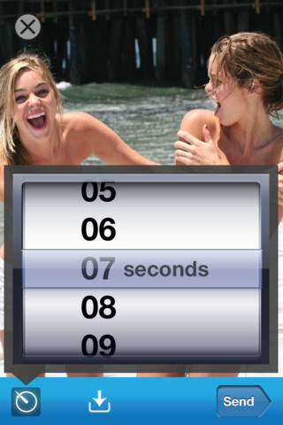 Your sexting pictures can self-destruct in 1 to 10 seconds using Snapchat