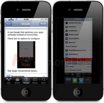 VertaSwitcher Cydia tweak brings vertical app-switching to jailbroken iPhone