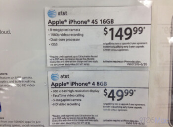 Target is discounting the Apple iPhone 4 and the Apple iPhone 4S