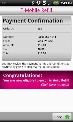 t mobiles prepaid customers with android phones get the refill app for easy top ups - T Mobile Visa Prepaid Card