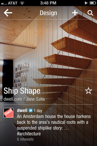 Flipboard's app on iOS