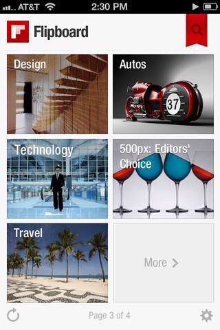 Flipboard's app on iOS
