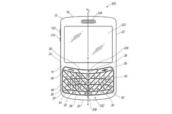 RIM has received a patent on a QWERTY with angled keys
