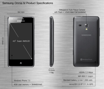 Samsung Omnia M is announced, coming to Europe soon