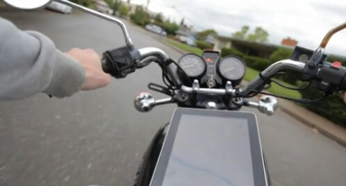 Using iPad as a motorcycle accessory
