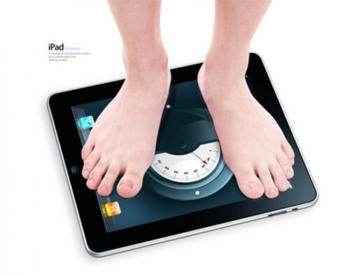 Using iPad as a weighing scale