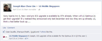 No ICS for the LG Optimus 2X until Q3 of this year