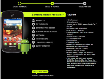 Samsung Galaxy Proclaim comes to Straight Talk, priced at $180