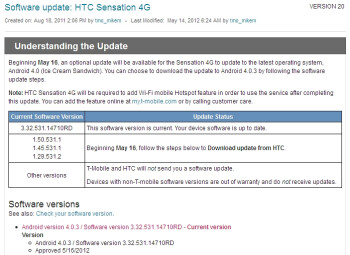 HTC Amaze 4G, Sensation 4G are getting ICS updates very soon