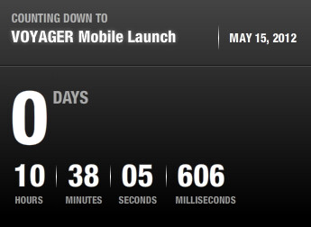 Voyager's website has a countdown timer counting down the time until Tuesday's launch
