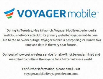 Voyager Mobile aborts its launch due to a 'malicious network attack'