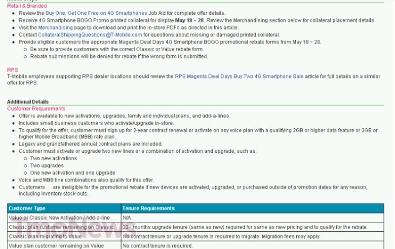 Leaked internal T-Mobile documents reveal more info on magenta Deal Days - HTC One S, Nokia Lumia 710 and HTC Radar 4G added to lineup of T-Mobile's Magenta Deal Days