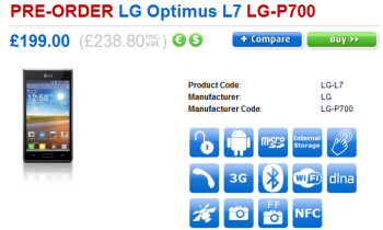 LG Optimus L7 can now be pre-ordered in the U.K.