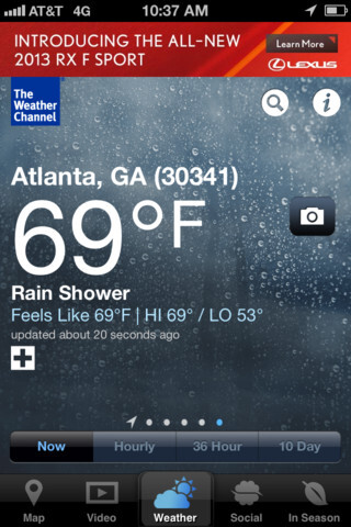 The Weather Channel overhauls its iPhone app: the bad weather forecast looks better now