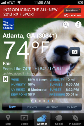 The Weather Channel overhauls its iPhone app: the bad weather