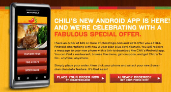 Get a free Android phone for dessert from Chili's