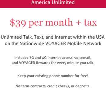 Voyager Mobile's top unlimited plan costs $39 a month