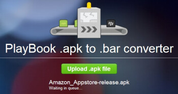 APK to BAR conversion in progress