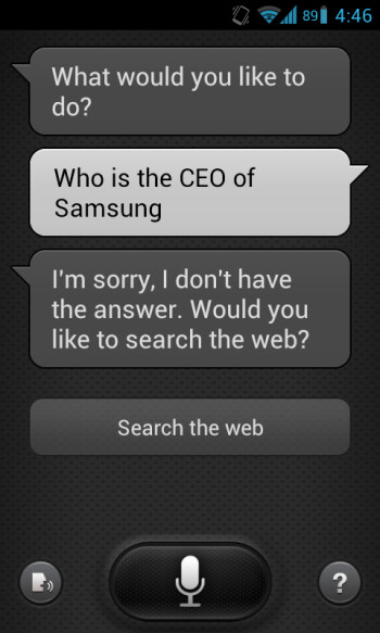 S Voice knows all about Apple, little about Samsung