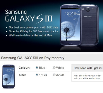 Vodafone has broken its record for Android Pre-orders with the Samsung Galaxy S III