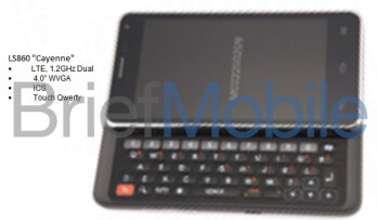 "LG LS860 ""Cayenne"" surfaces, possibly a QWERTY keyboard Android headed to Sprint"