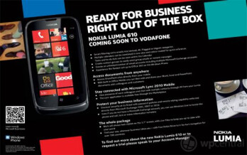 "Nokia Lumia 610 is listed as ""coming soon"" to Vodafone UK"