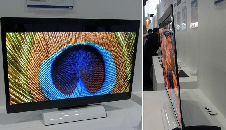 Front and side view of an IGZO display - Foxconn-Sharp partnership to result in new factory to produce Apple iPhone displays