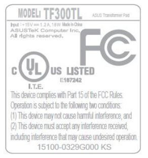 ASUS Transformer Pad TF300TL shows up at the FCC