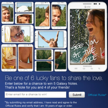 Win a Samsung GALAXY Note for you and your friends