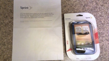 The apology letter and the free case offered to those who pre-ordered the HTC EVO 4G LTE