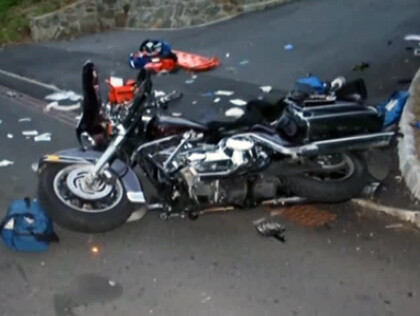 The bike after the crash - Judge rules text sender not liable in crash that cost two victims a leg each