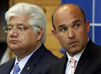 Mike Lazaridus and Jimn Balsillie, former co-CEOs at RIM